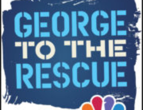 "Benny and Elite Painting on the TV show ""George to the Rescue""."